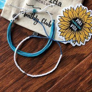 Puravida White Seed Bracelet Bundle